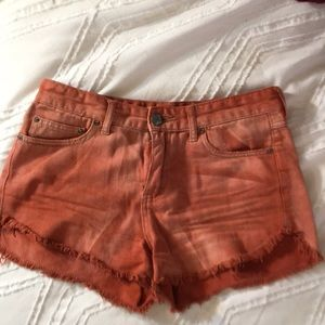 Free People High-waisted frayed shorts